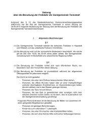 Satzung und Badeordnung der Freibäder - Samtgemeinde Tarmstedt