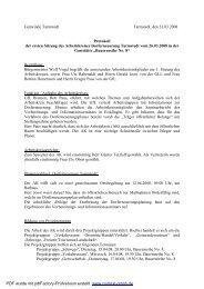 Protokoll 1. Sitzung Arbeitskreis