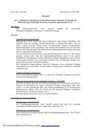 Protokoll 3. Sitzung Arbeitskreis