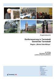 Ergebnisbericht 2009 - Samtgemeinde Tarmstedt