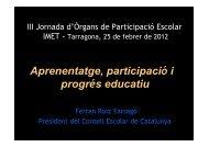 Presentació del Sr. Ferran Ruiz i Tarragó. - Ajuntament de Tarragona