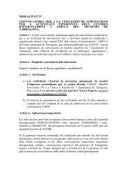 MODALITAT I - Ajuntament de Tarragona