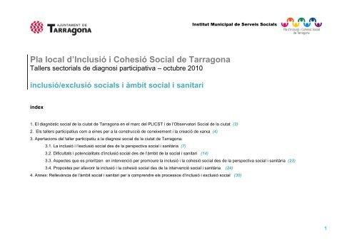 Taller Social i Salut - Ajuntament de Tarragona