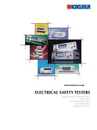 ELECTRICAL SAFETY TESTERS - ELSINCO