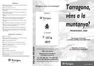 Tarragona, véns a la muntanya? - Ajuntament de Tarragona