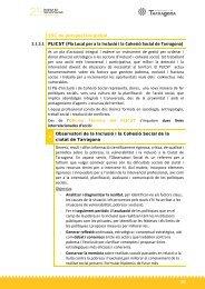 Pla Local per a la Inclusió i la Cohesió Social de Tarragona
