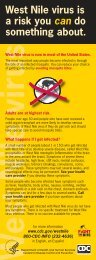 West Nile virus is a risk you can do something ... - City of Fort Worth