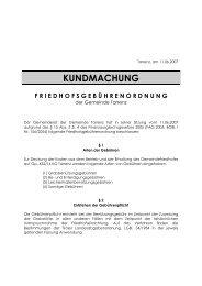 Friedhofsgebührenordnung Gemeinde Tarrenz - .PDF