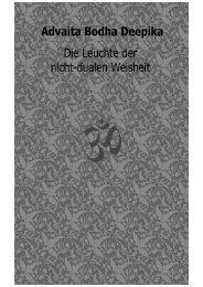 Advaita Bodha Deepika - Die Leuchte der nicht-dualen Weisheit_Sri Karapatra Swami (Hrsg.)