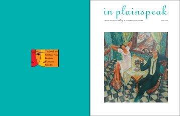 in plainspeak · ISSUE 4 · '07 · 2 in plainspeak · ISSUE 4 · ' - TARSHI