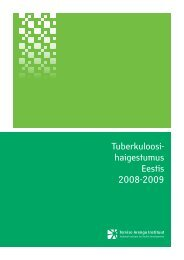 Tuberkuloosihaigestumus Eestis 2008-2009 - Tartu