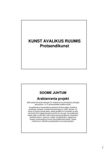 KUNST AVALIKUS RUUMIS Protsendikunst SOOME ... - Tartu