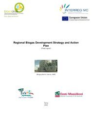 Regional Biogas Development Strategy and Action Plan - Tartu