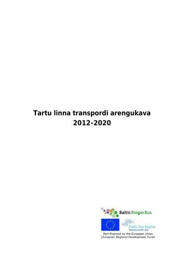 Tartu linna transpordi arengukava 2012-2020 projekt