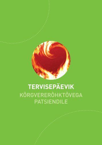 Tervisepäevik kõrgvererõhktõvega patsiendile - Eesti Haigekassa