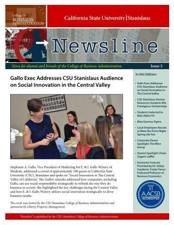 Newsline Spring 2012 - CSU Stanislaus