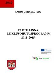 2010 TARTU LINNA LIIKLUSOHUTUSPROGRAMM 2011–2015