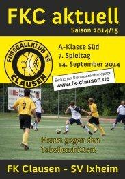 FKC Aktuell - 07. Spieltag Saison 2014/2015