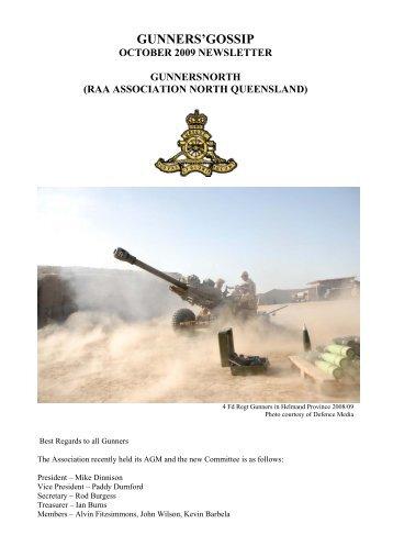 gunners'gossip - Royal Australian Artillery Association of Tasmania Inc