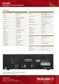 CC-222SL - Tascam - Seite 2