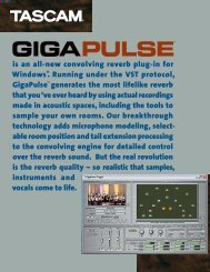 is an all-new convolving reverb plug-in for Windows ... - Tascam