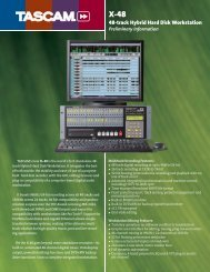 Preliminary Product Information - Tascam