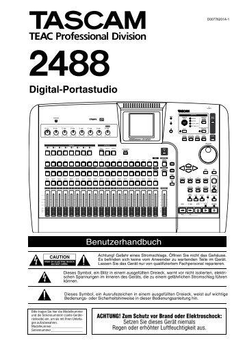 Benutzerhandbuch Tascam 2488