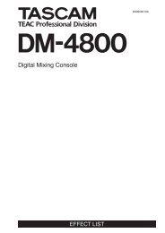 DM-4800 Effects List - Tascam