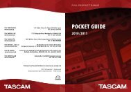 Tascam Pocketguide 2009/2010