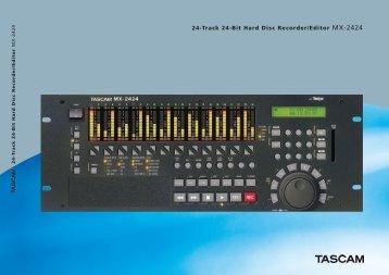 24-Track 24-Bit Hard Disc Recorder/Editor MX-2424 - Tascam