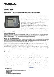 Product information - Tascam