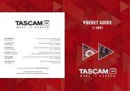 Tascam Pocketguide 1/2007