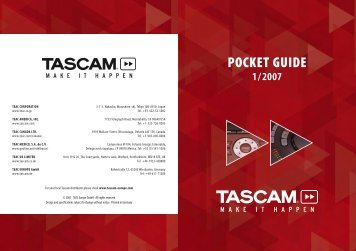 Tascam Pocketguide 1/2007
