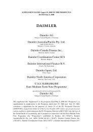 Supplement to the Base Prospectus dated May 6 - Daimler