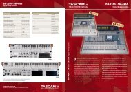 Tascam Digital Mixers DM-3200, DM-4800 - Sennheiser