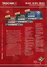 Tascam CD Trainers CD-BT2, CD-GT2, CD-VT2 - Sennheiser