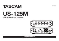 US-125M Owner's Manual - Tascam