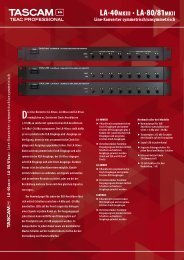 Tascam LA-Serie Flyer PDF