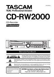 CD-RW2000 - Tascam