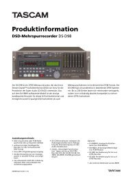 Tascam Produktinformation