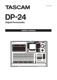 DP-24 Owner's Manual - Tascam