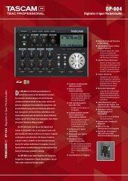 Tascam DP-004 - Produktinfo.conrad.com