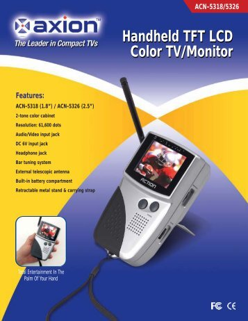 Features: Handheld TFT LCD Color TV/Monitor Handheld TFT LCD ...