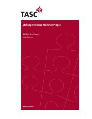 Making Pensions Work for People - Tasc