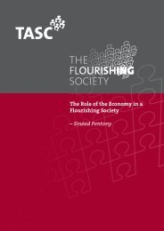 The Role of the Economy in a Flourishing Society - Tasc