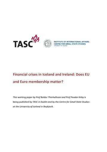 Comparing the financial crises in Iceland and Ireland: an ... - Tasc