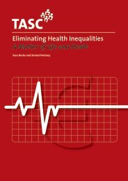 Eliminating Health Inequalities – A Matter of Life and Death - Tasc