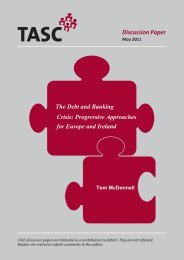 Debt and Banking Crisis: Progressive Approaches for Europe ... - Tasc