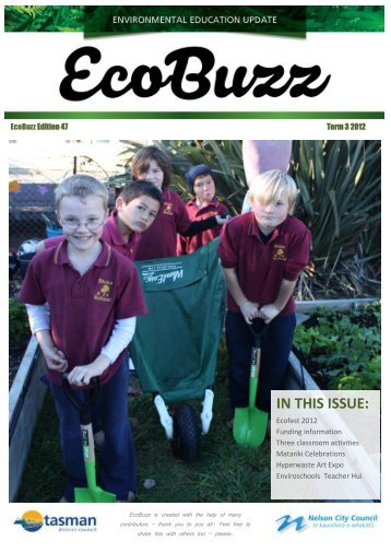EcoBuzz - Term 3, 2012 - Tasman District Council