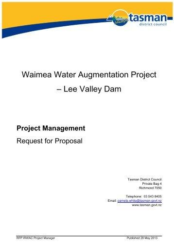 Lee Valley Dam Project Management - Tasman District Council